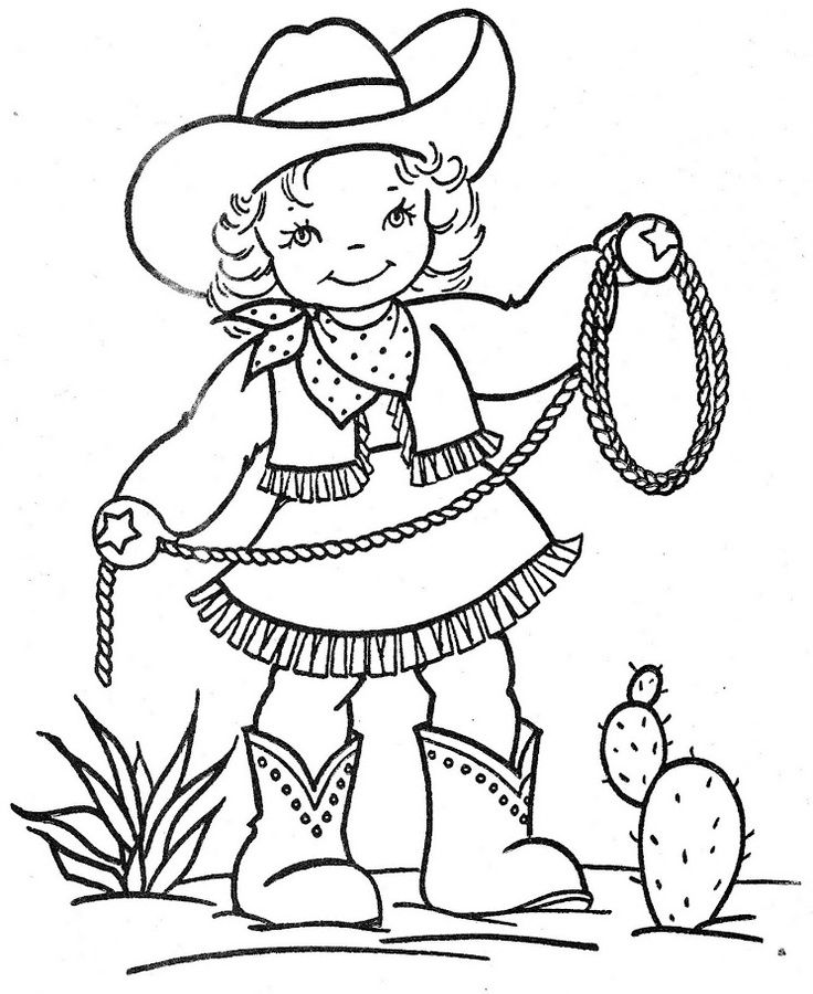 736x900 Printable Cowgirl Coloring Pages For Girls