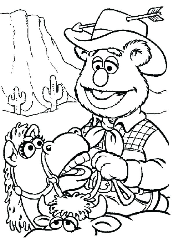 600x837 Western Coloring Sheets Awesome Cowboy Coloring Pages Free Image