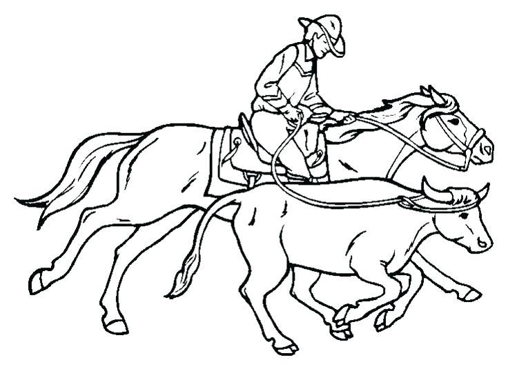 736x538 Cowboy Coloring Pages Pdf