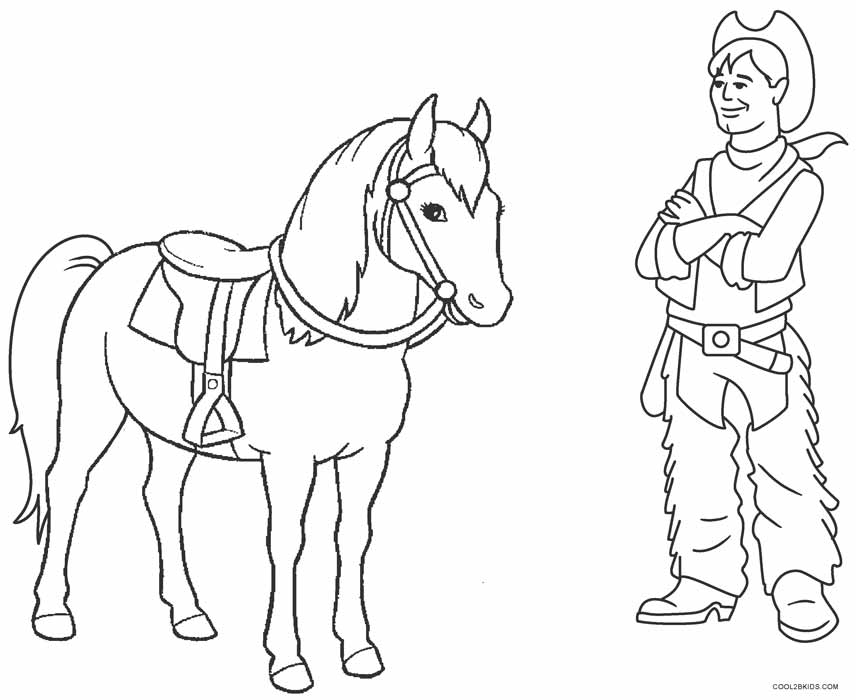 856x700 Printable Cowboy Coloring Pages For Kids