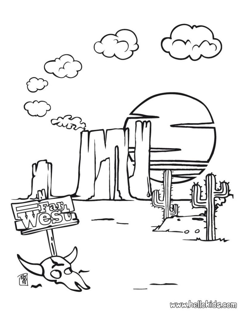 792x1024 Western Coloring Pages
