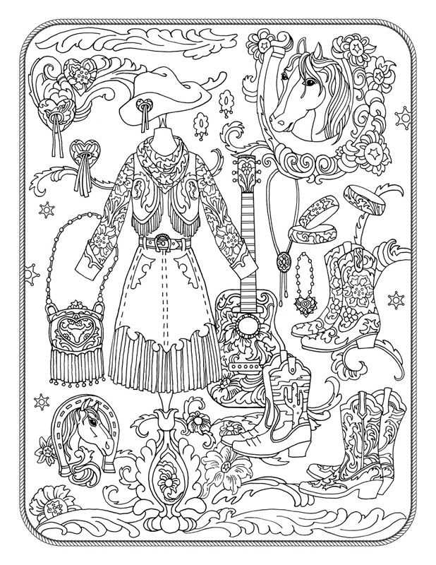 618x800 Western Coloring Pages Fun Time