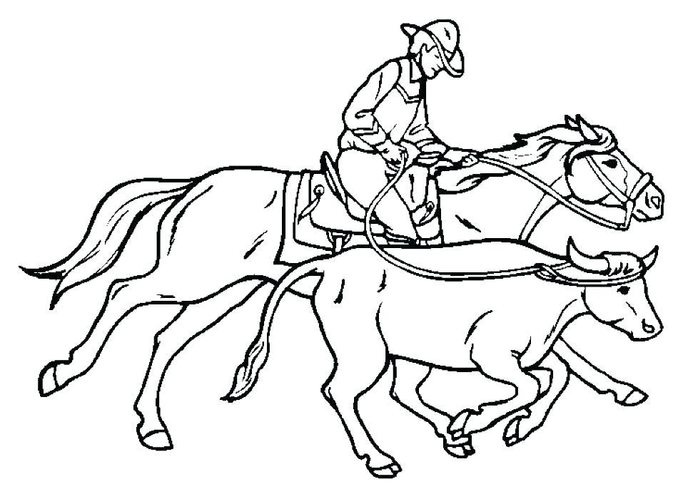 957x700 Western Coloring Sheets Preschool Cowboy Coloring Pages