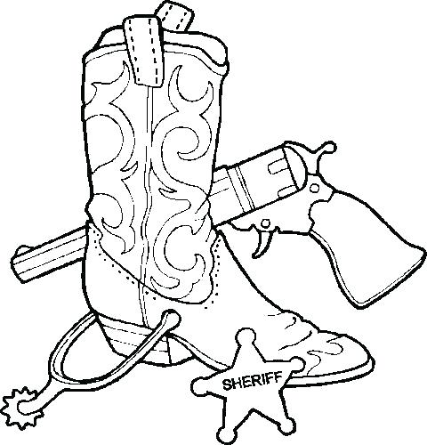 480x500 Cowboy Boots Coloring Pages Cowboy Boots Coloring Page Western