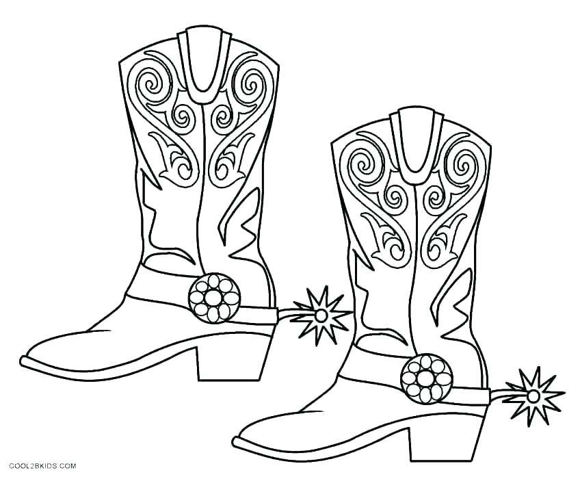 848x700 Cowboy Boots Coloring Pages Cowboy Coloring Book Plus Western