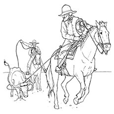 230x230 Cowboy Coloring Pages Free Top Printabe Online Prixducommerce