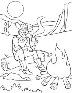 Western Theme Coloring Pages At Getdrawings Com Free For Personal