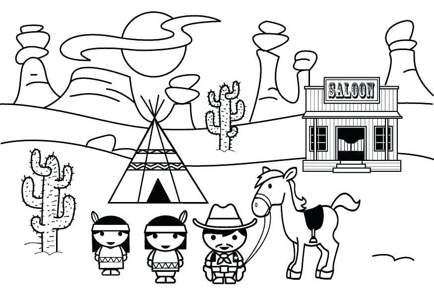The best free West coloring page images. Download from 311 ...