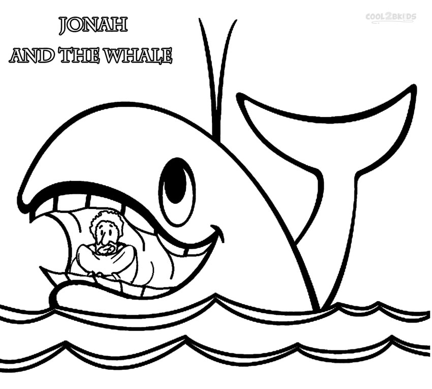 850x765 Printable Jonah And The Whale Coloring Pages For Kids