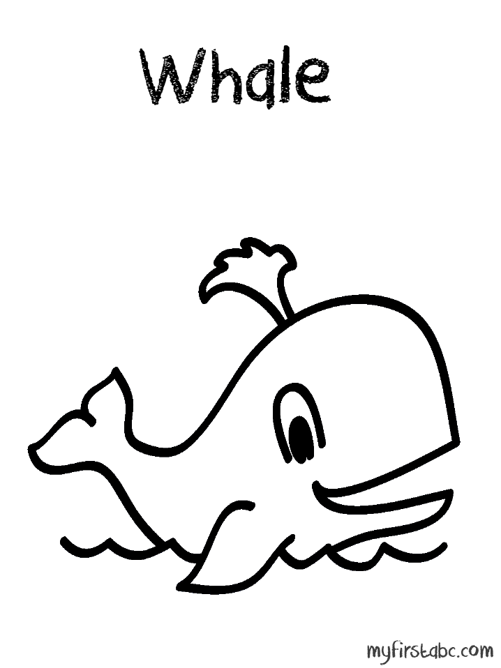 718x958 Whale Coloring Page