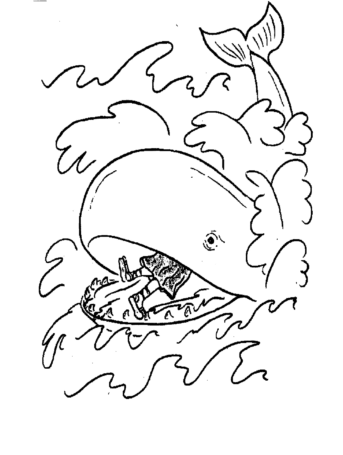 1176x1560 Jonah And The Whale Coloring Pages Free