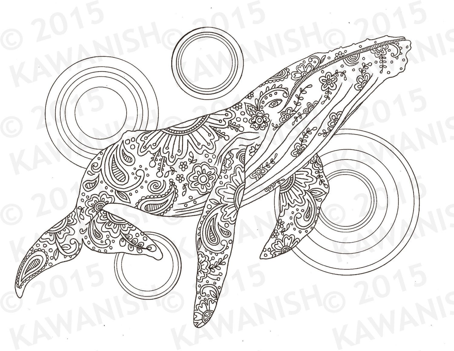 1500x1159 Whale Adult Coloring Page Gift Wall Art Zentangle