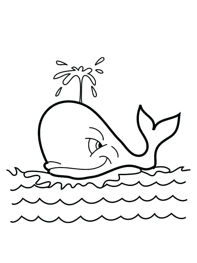 750x1000 Whale Coloring Page