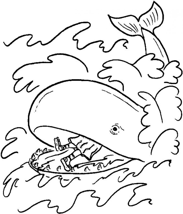 600x700 Jonah And The Whale Coloring Pages Free Printable Coloring Pages