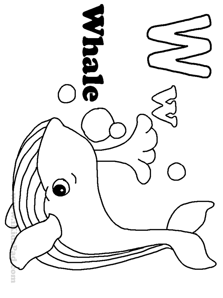 768x1024 Profitable Coloring Pictures Of Letters Whale