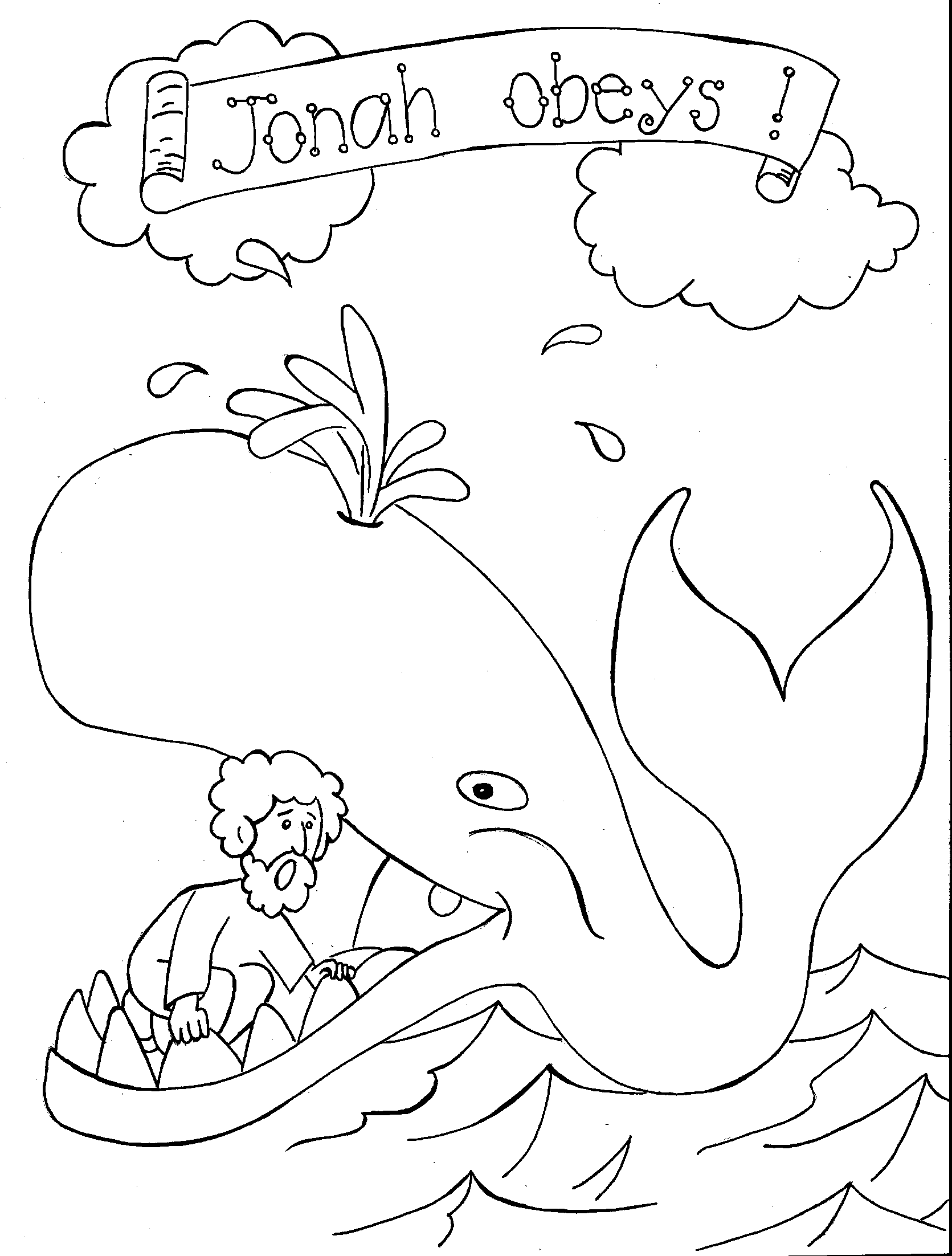 1671x2204 Jonah And The Whale Coloring Page Craft Ideas