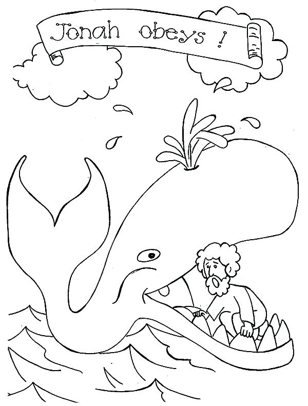 600x791 Free Printable Jonah And The Whale Coloring Pages And The Whale