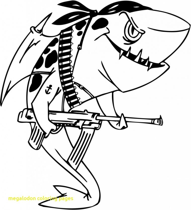 768x846 Whale Shark Coloring Pages Best Of Megalodon With Download