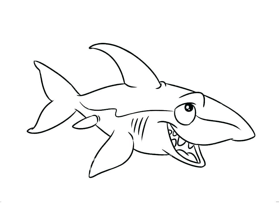968x768 Shark Coloring Book