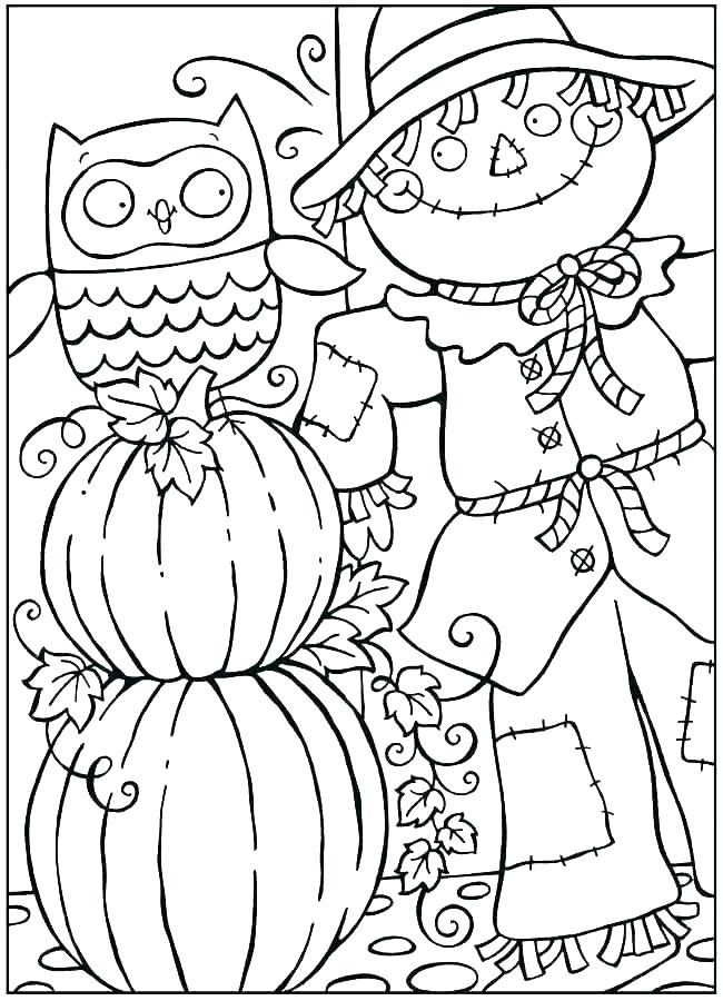 650x900 Coloring Pages Fall Thanksgiving Wheat Coloring Page Fall Leaves