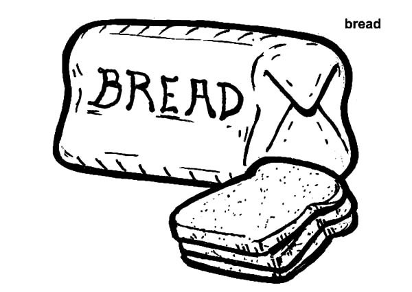 600x425 Bread Coloring Page Printable Free Coloring Pages