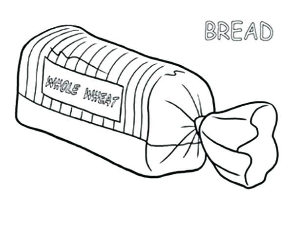 600x462 Bread Coloring Page Bread Coloring Page Bread In Package Coloring