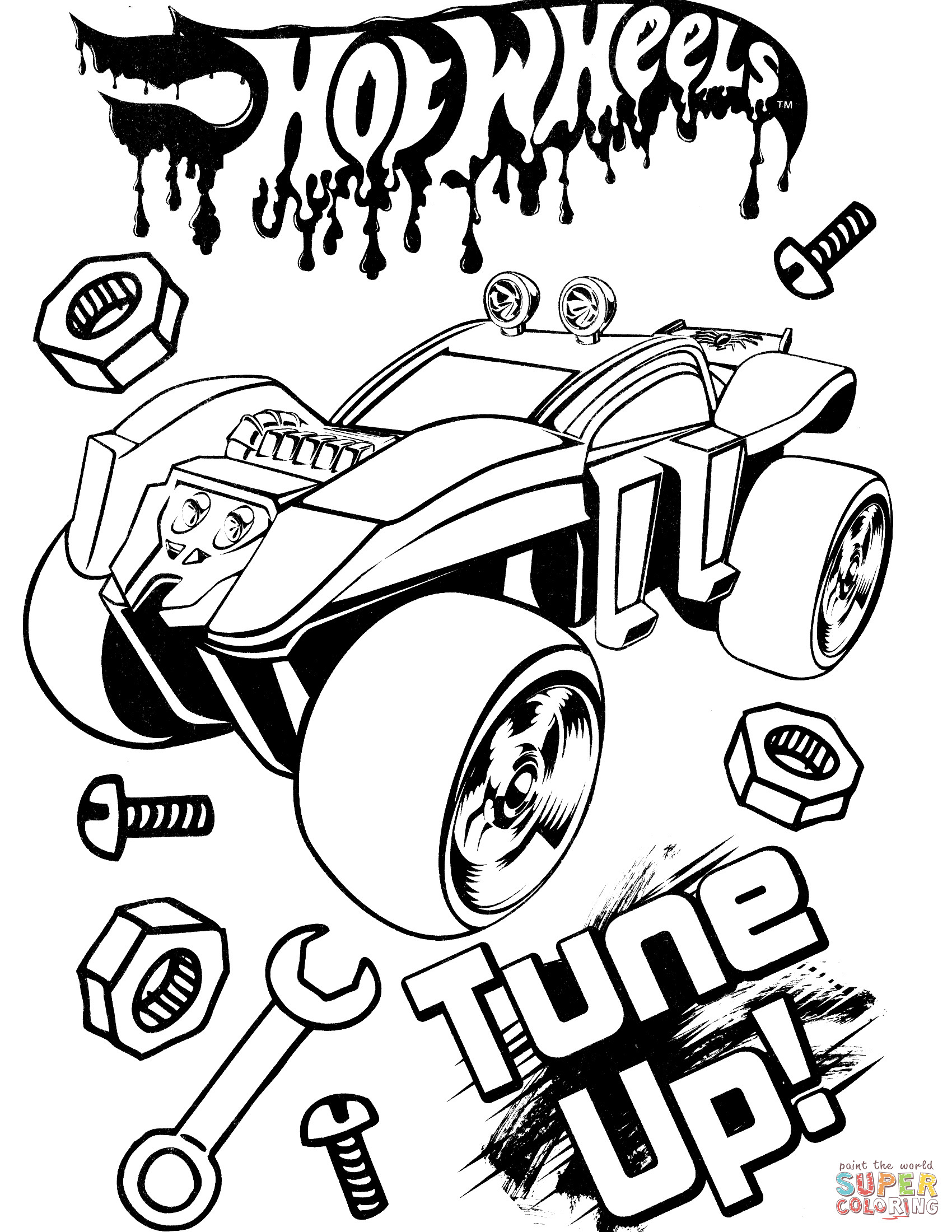 1700x2200 Hot Wheel Coloring Page Mosm