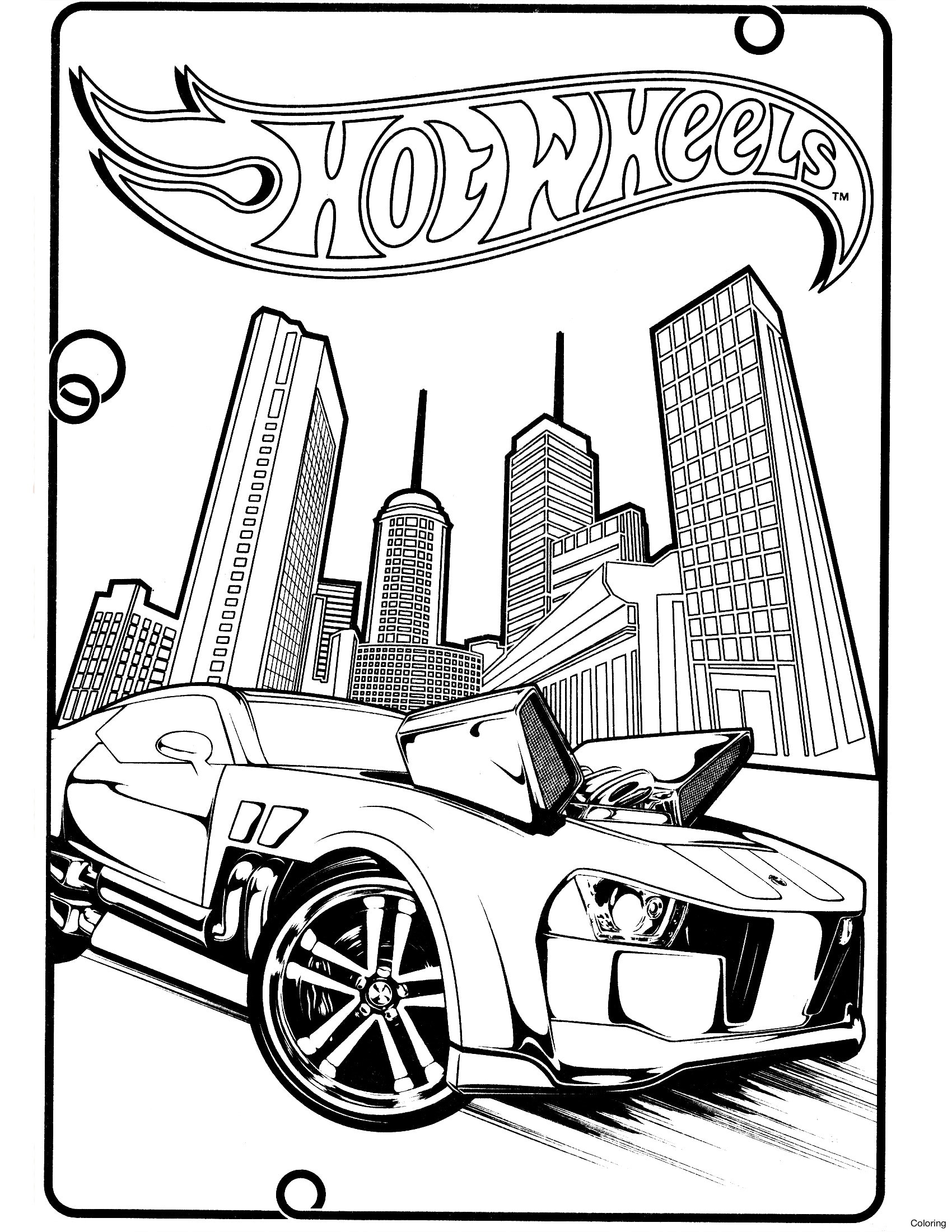 1700x2200 Hot Wheel Coloring Pages Team Wheels For Kids Free Printable