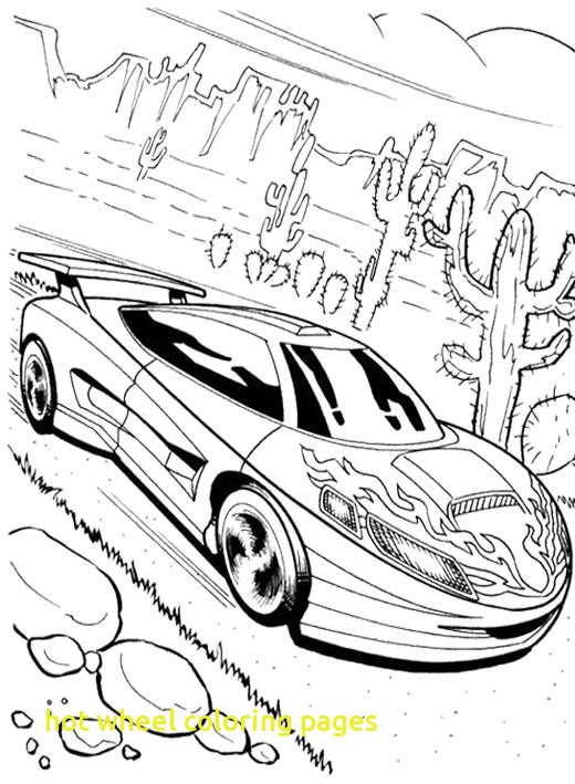 520x709 Hot Wheel Coloring Pages With Good Looking Car Hot Wheels Coloring