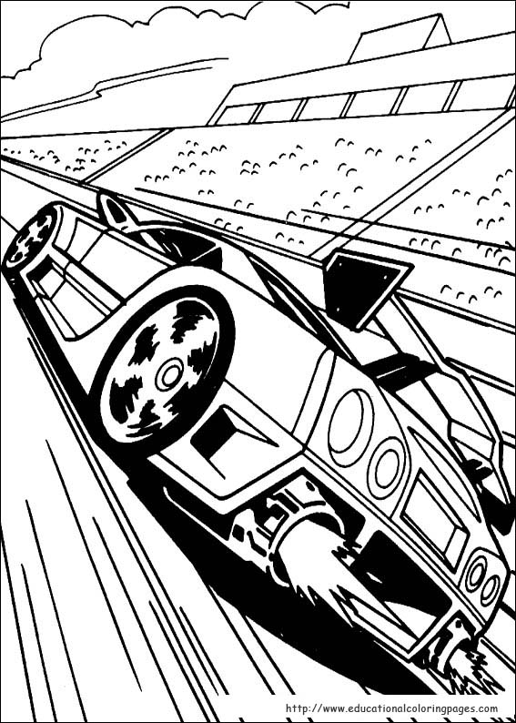 567x794 Hot Wheels Coloring Pages Free For Kids