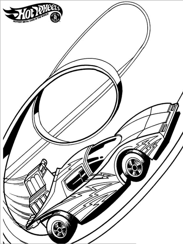 750x1000 Hot Wheel Coloring Pages
