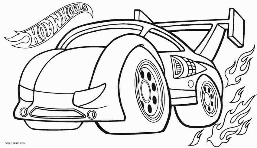 850x491 Printable Hot Wheels Coloring Pages For Kids