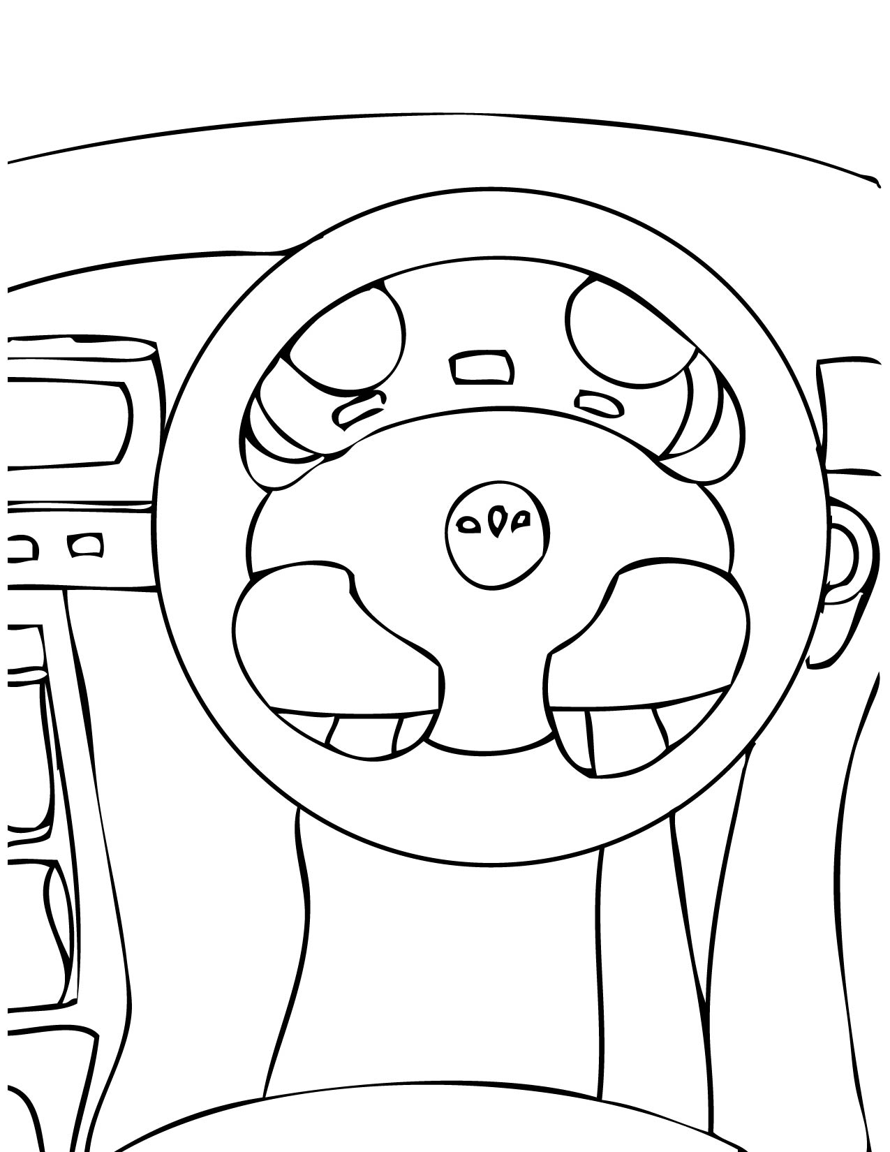 1275x1650 Steering Wheel Coloring Page