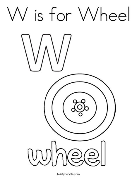 468x605 W Is For Wheel Coloring Page