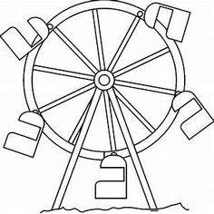 236x236 Carnival Starry Ferris Wheel Coloring Page Ayk World