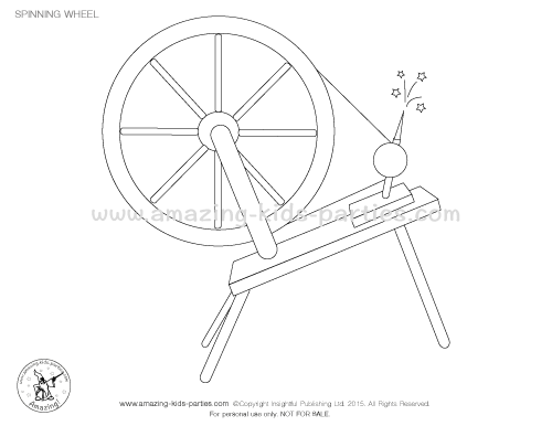 500x386 Spinning Wheel Coloring Page Princess Party Coloring Pages