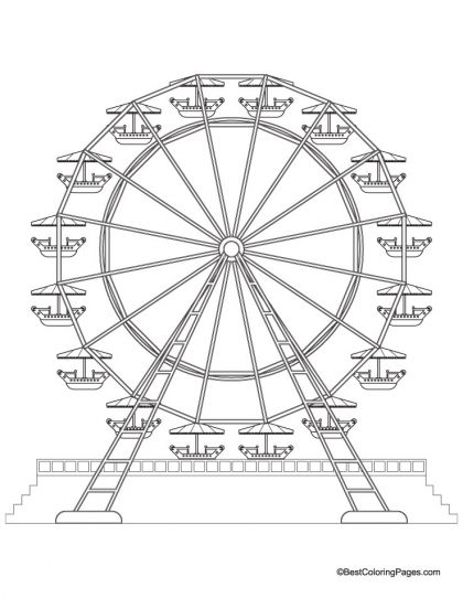 420x542 Ferris Wheel Coloring Page Download Free Ferris Wheel Coloring