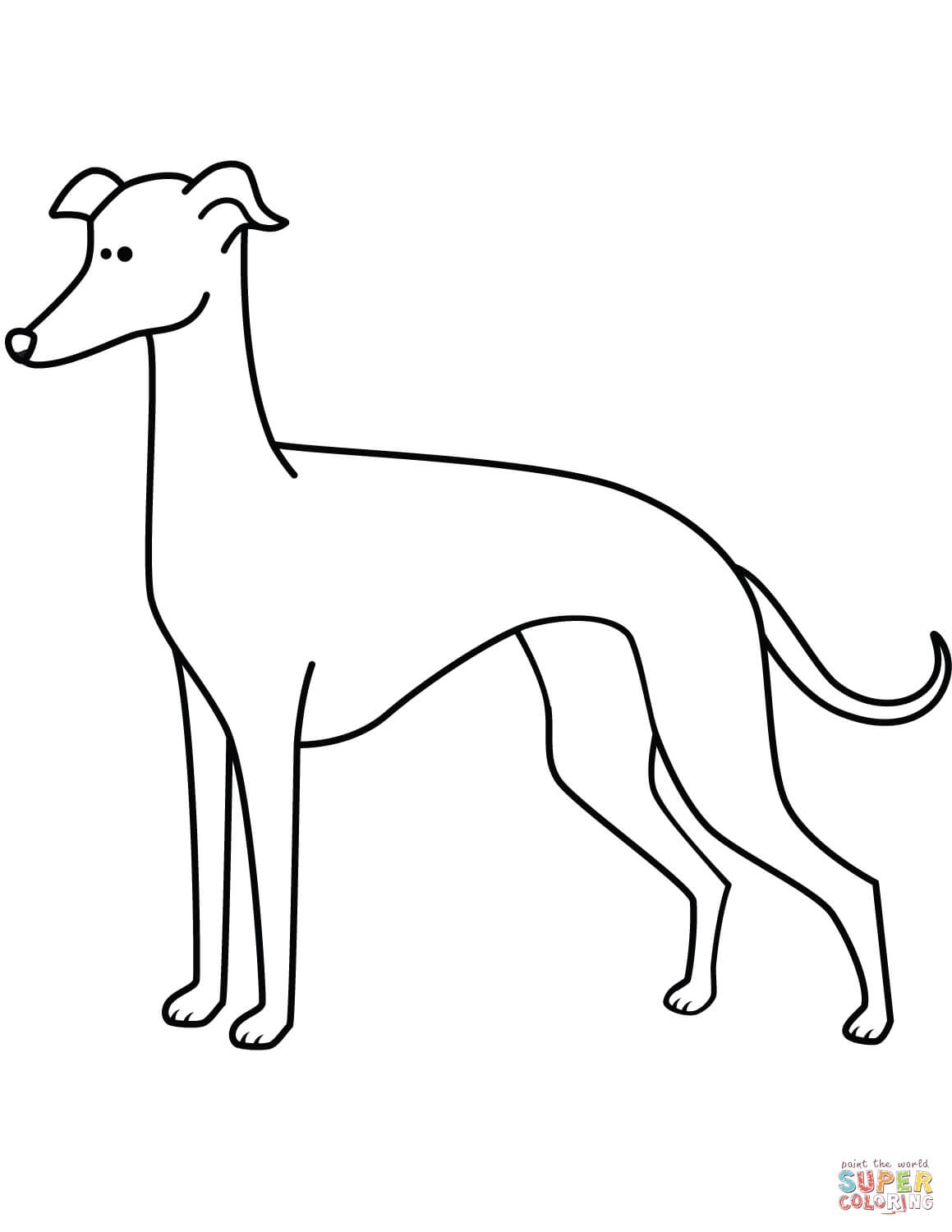 1159x1500 Bargain Whippet Coloring Pages Funny Greyhound