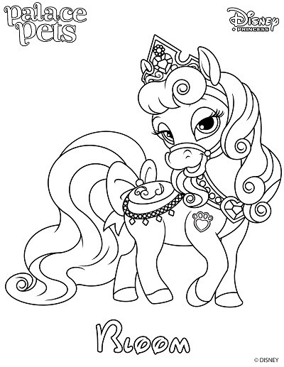 400x517 Free Printable Palace Pet Coloring Page Of Bloom Skgaleana
