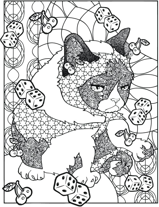 It's just a photo of Clever Grumpy Cat Coloring Page