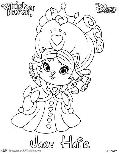 400x517 Whisker Haven Tales Coloring Page Of Jane Hair Palace Pets