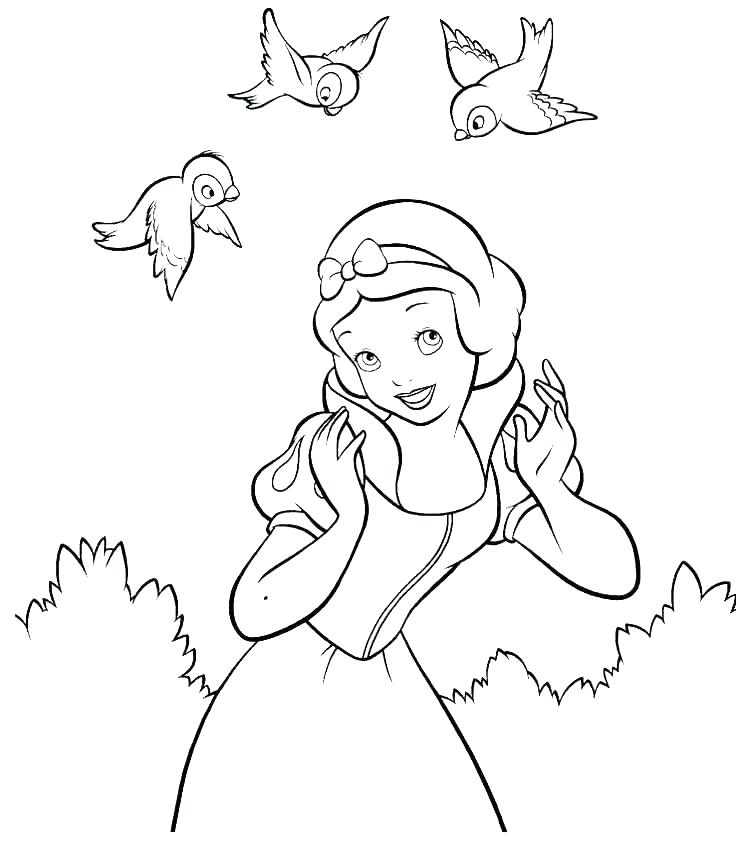 736x859 Snow White And Seven Dwarfs Coloring Pages Snow White