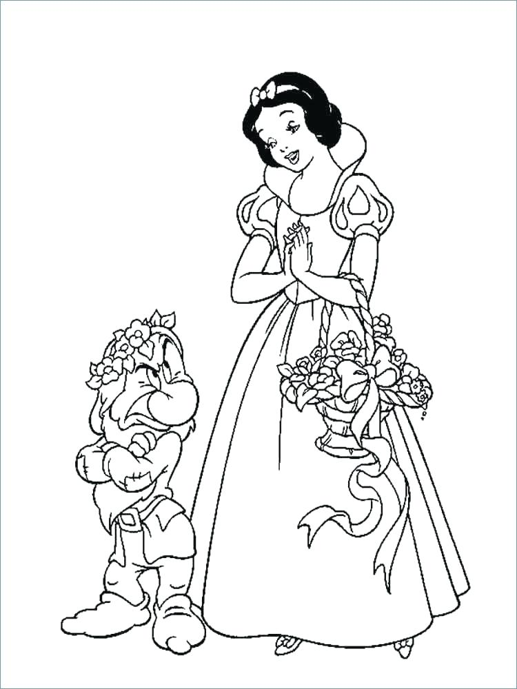 750x1000 Snow White Coloring Snow White Coloring Pages Download And Print