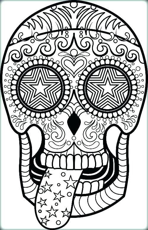 500x777 Sugar Skull Coloring Pages Printable Skull Coloring Pages Black