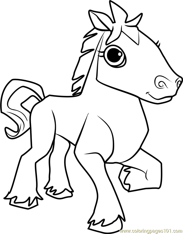 625x800 Horse Animal Jam Coloring Page