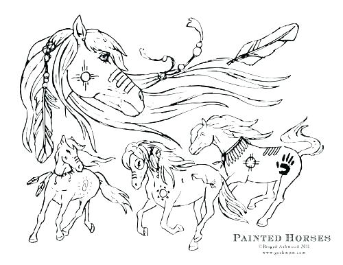 500x386 Horses Coloring Page Cute Horse Coloring Pages Paint Horse