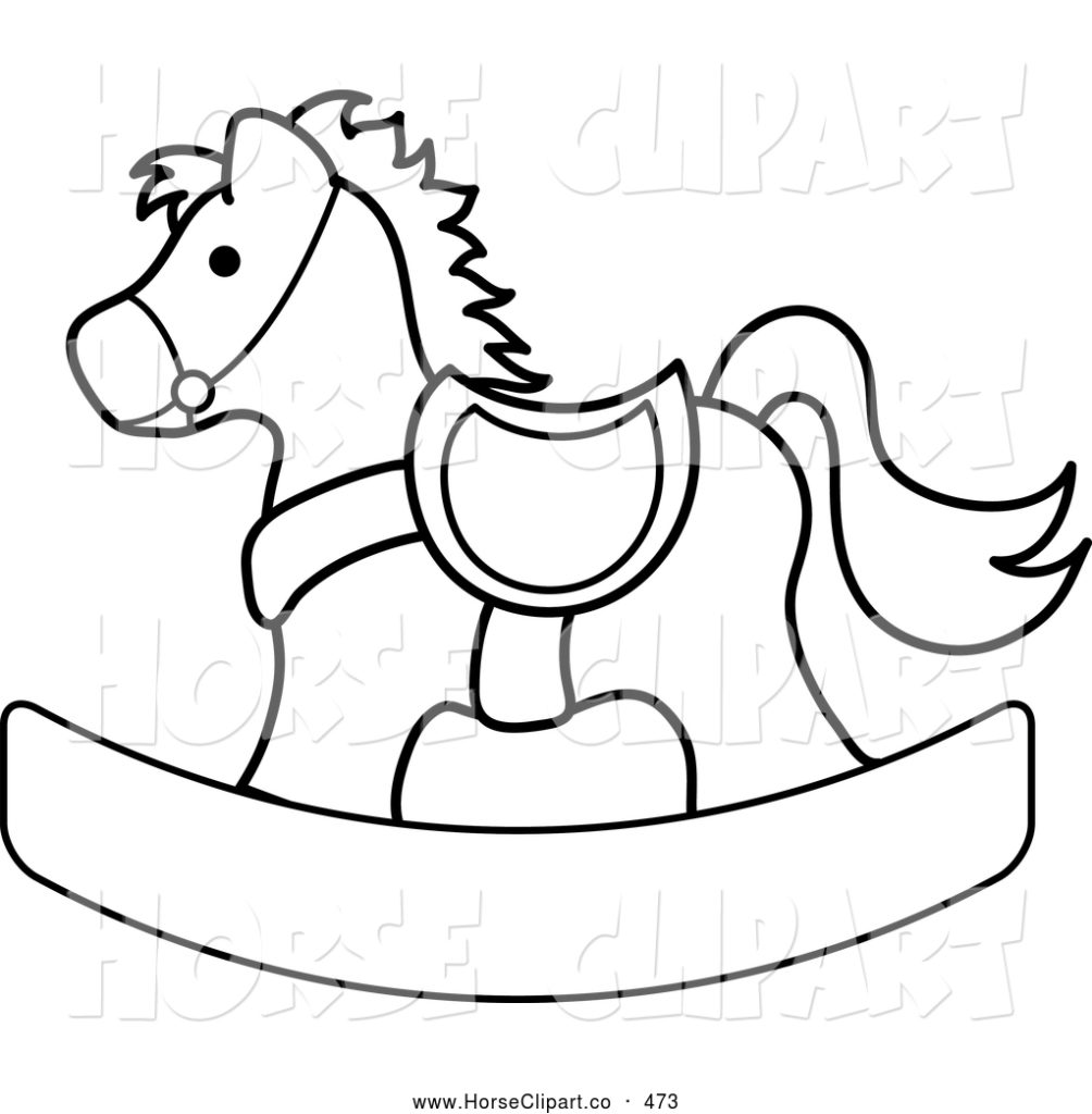 1004x1024 Black And White Horse Clipart Clipart Kid Wooden Horse Coloring