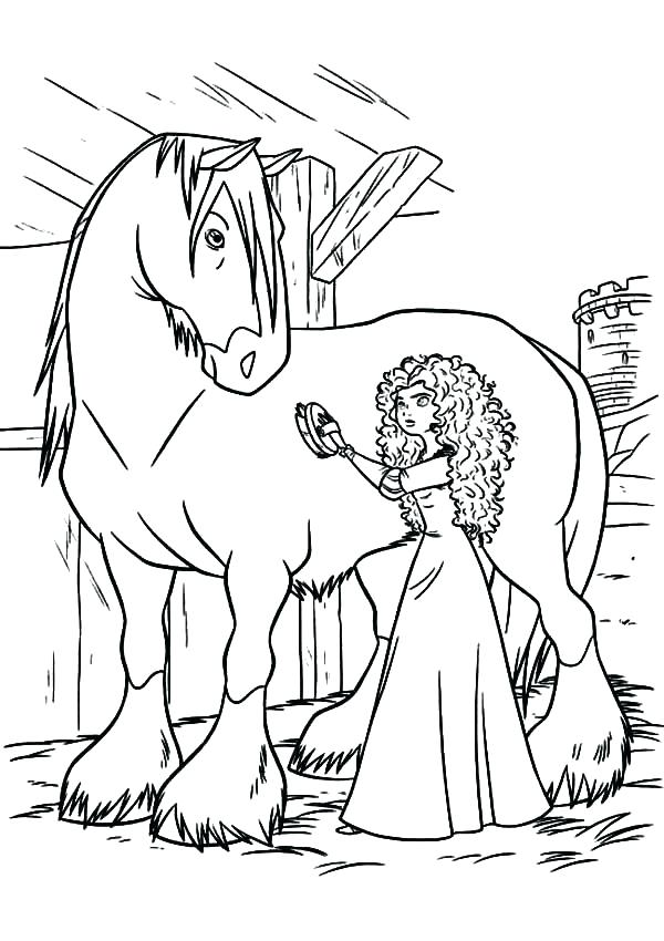 600x850 Black And White Horse Coloring Pages Cute Pony Page