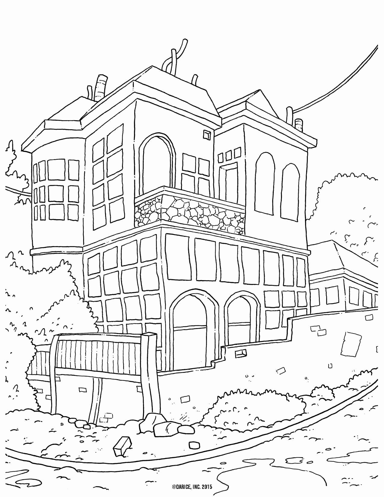 1275x1650 White House Coloring Sheet Coloring Page