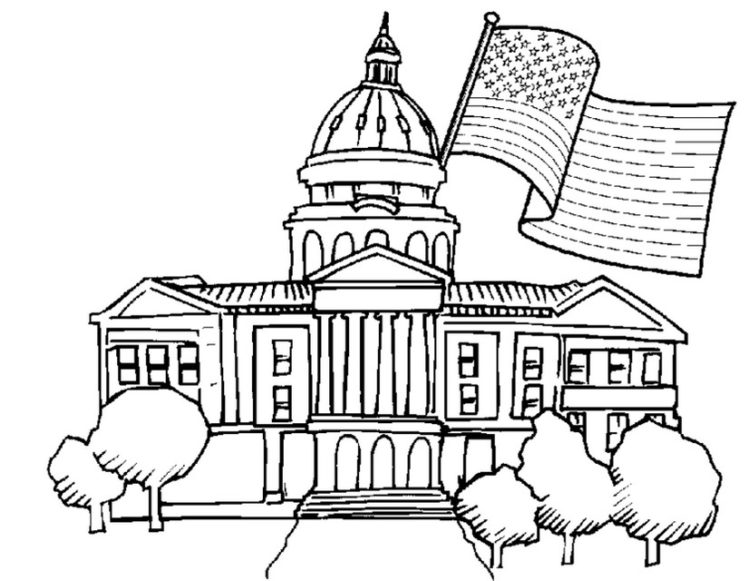 825x640 Lovely White House Coloring Page Printable For Cure Adult Coloring